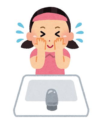 洗顔のイラスト