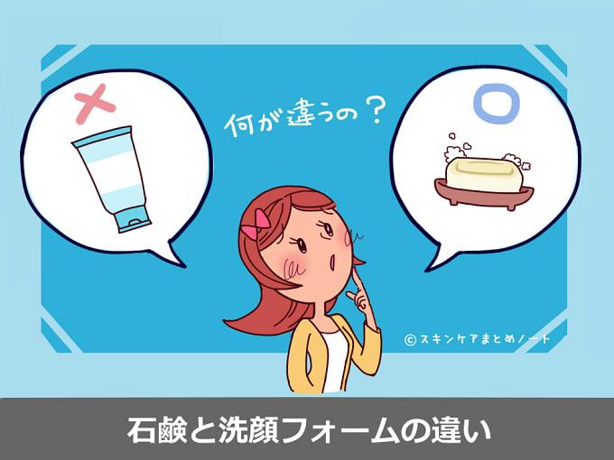 石鹸と洗顔フォームの違い